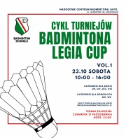 Cykl turniejów badmintona Legia Cup - VOL.1