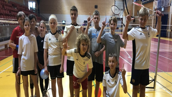 Nasi zawodnicy na obozie badmintona